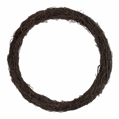 Wreath Base Rattan Dark 30.5cm 12in